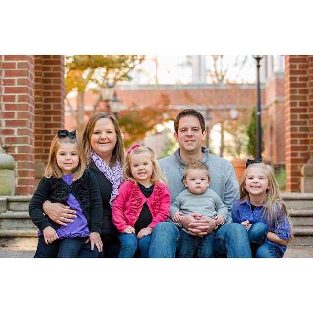 Family pics at Davidson College.